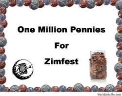 One Million Pennies for Zimfest