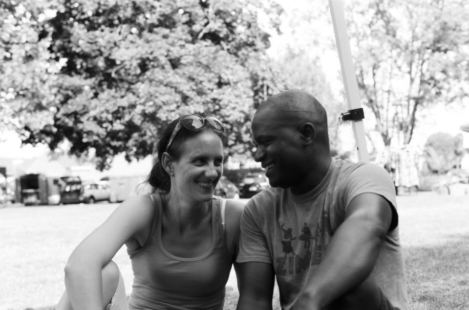 Jacqueline Fallon and Tendai Muparutsa (photo by Alex Weeks)